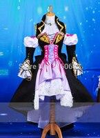 Высокое качество VOCALOID2 Платье для косплея Роскошные Для женщин аниме yowane Хаку Платье для косплея костюм