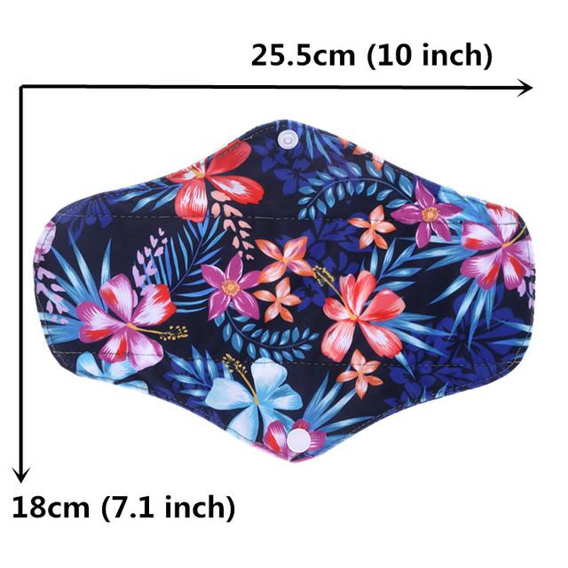 [simfamily] 10PC Bamboo Charcoal Sanitary Pads Regular Flow pads Reusable Health higiene feminina Menstrual Cloth Pads