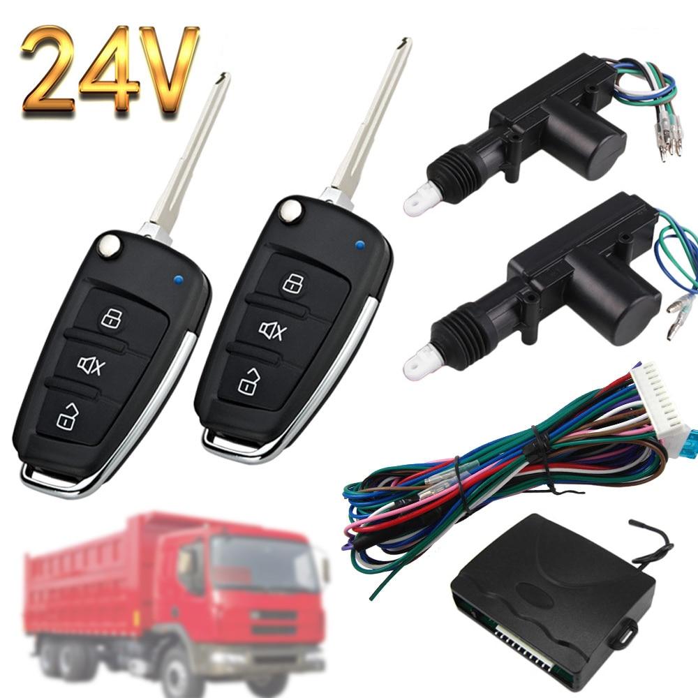 24V Truck Central Lock Waterproof Dustproof One-way Alarm Engineering Trucks Vehicle Wagon Anti-Theft Device