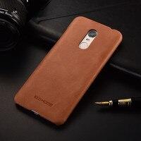 Luxury Brand Design Retro Genuine Leather Back Cover Case For Xiaomi Redmi 5 Plus Phone Cases