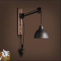 American vintage Iron loft industrial wall lamp indoor lighting bedside lamps wall lights for home 110V/220V E27 Edison Bulb|Wall Lamps|   -