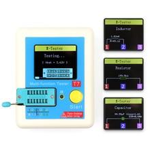 T7 транзистор тестер TFT Диод Триод измеритель емкости LCR ESR метр NPN PNP MOSFET ИК Многофункциональный тестер мультиметр