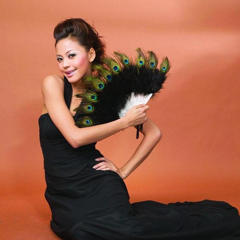 새로운 스페인 Leques 숙 녀 공작 공작 깃털 핸드 팬, 도매 웨딩 장식 댄스 14의 도매 맞춤 대나무 팬