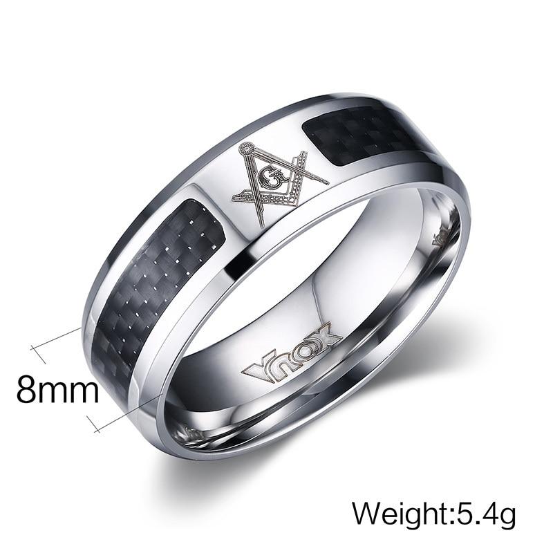 Meaeguet Black Men Rings Stainless Steel Masonic Rings Wholesale