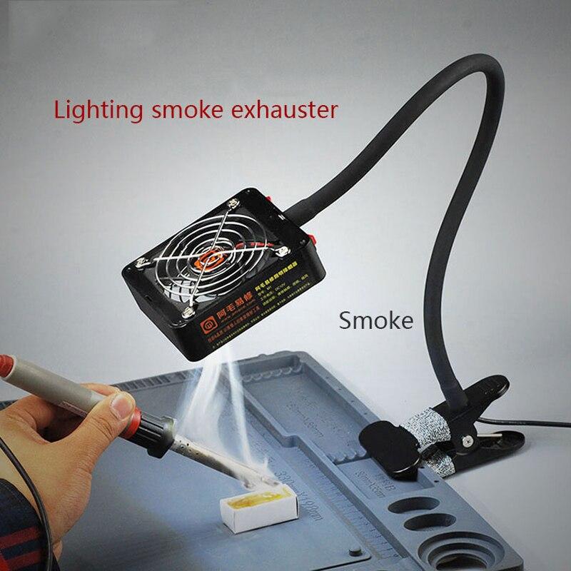 Soldering Iron Smoke Exhauster Solder Smoke Remover Fume Extractor BGA Soldering Station Repair Tools Kit Ferramentas