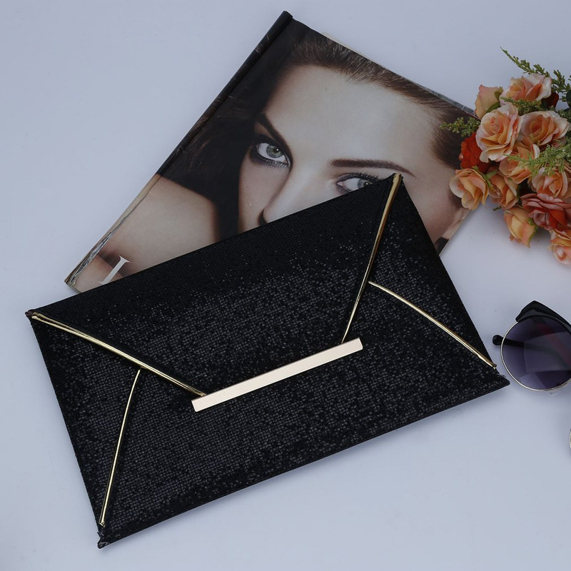 Coofit Fashion Women Evening Clutch Bags Envelope Bags Lady Sparkling Dazzling Sequins Purse Party PU Leather Handbag Wedding