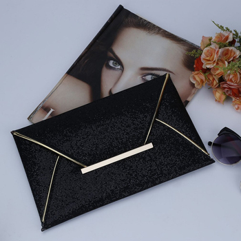 Black envelop clutch
