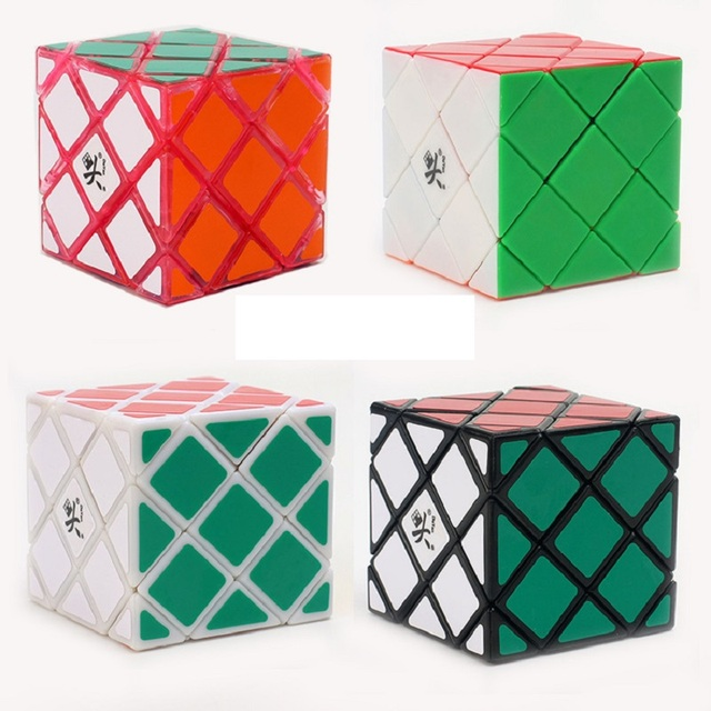 DaYan 4-Axis 5-Rank Magic Cube White Balck Stickerless Puzzle Speed Magic Cubes Cubo Magico Educational Special Toys Free Ship