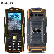 "XGODY F18 Waterproof Shockproof Phone FM MP3 2.4"" 2500mAh Battery GSM 2Sim Cards Power Bank Flashlight Unlocked Phone"