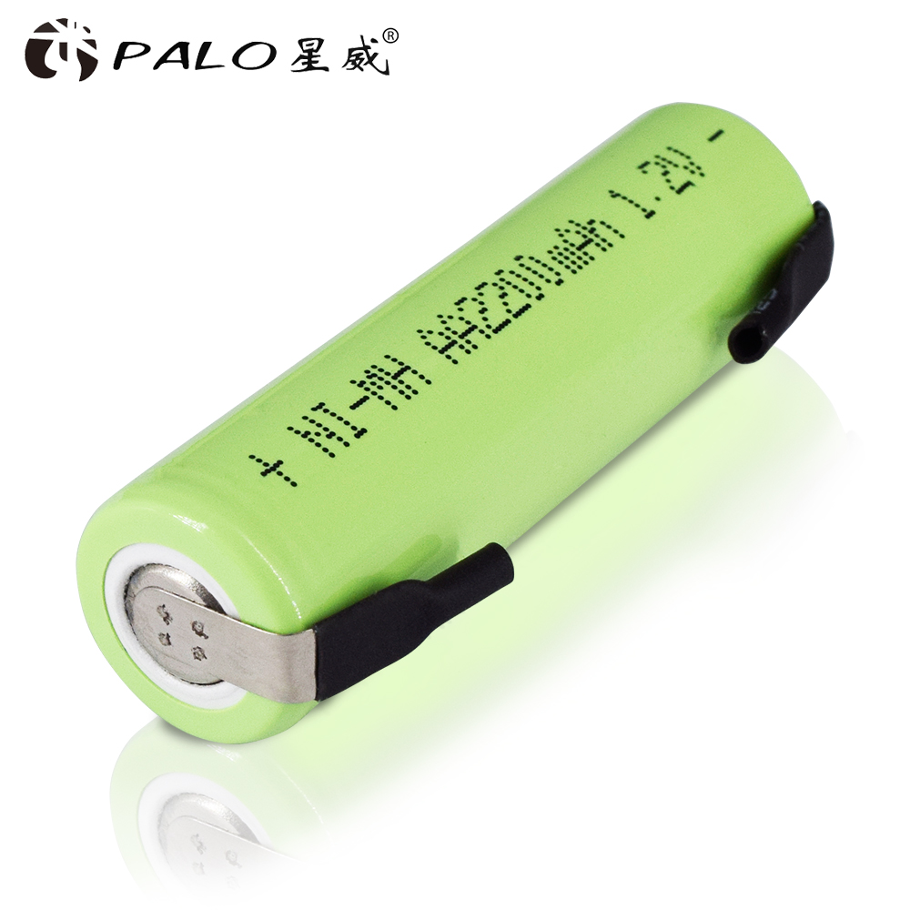 PALO Electronic Cigarette Battery AA Rechargeable Battery AA NiMH 1.2V 2200mAh Batteries For Cordless Telephone Razor Toothbrush