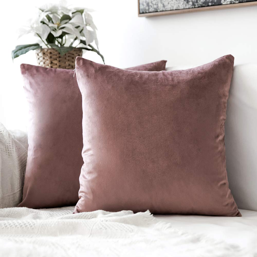 Decorative Velvet Throw Pillow Cover Soft Comfortable Pillow Cover Soild Square Cushion Case for Sofa Bedroom