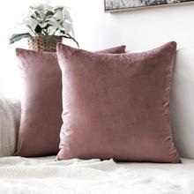 Декоративные бархатные Бросить Наволочка мягкие удобные наволочка Soild квадратный чехол для подушки для дивана Спальня автомобиля