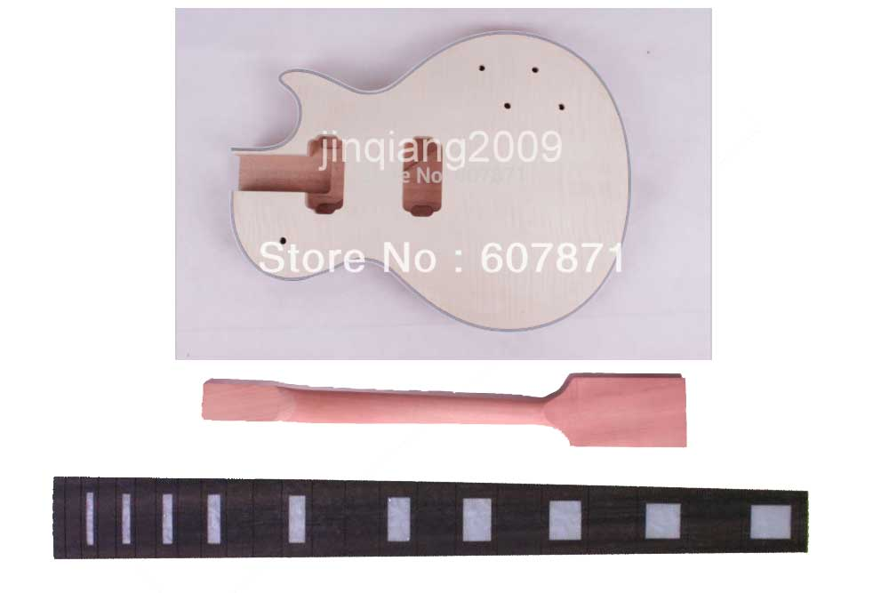 New A high quality Unfinished electric guitar body and neck .ebony fingerboard 22 fret, 24.75 new unfinished electric guitar neck truss rod 22 fret 25 5 free shipping dropshipping wholesale 1 pcs