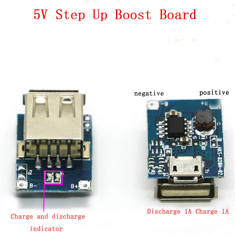 5V 1A 3.7V Power Bank Charger Circuit Board Step Up Boost Power Module 18650 Li-ion Lithium Battery For Diy Power Bank waveshare li ion battery hat for raspberry pi 5v regulated output bi directional quick charge integrates sw6106 power bank chip