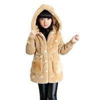 2017 Autumn Winter Jackets For Girls Clothing Children Outerwear Thicken Cartoon Coats Girls Plus Velvet Parkas