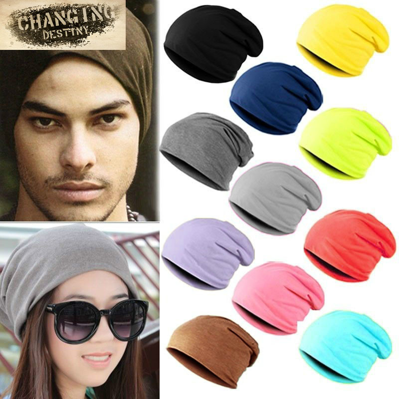 4b4b171a0 Spring Fashion Men Knitted Winter Cap Casual Beanies Men Women Solid ...
