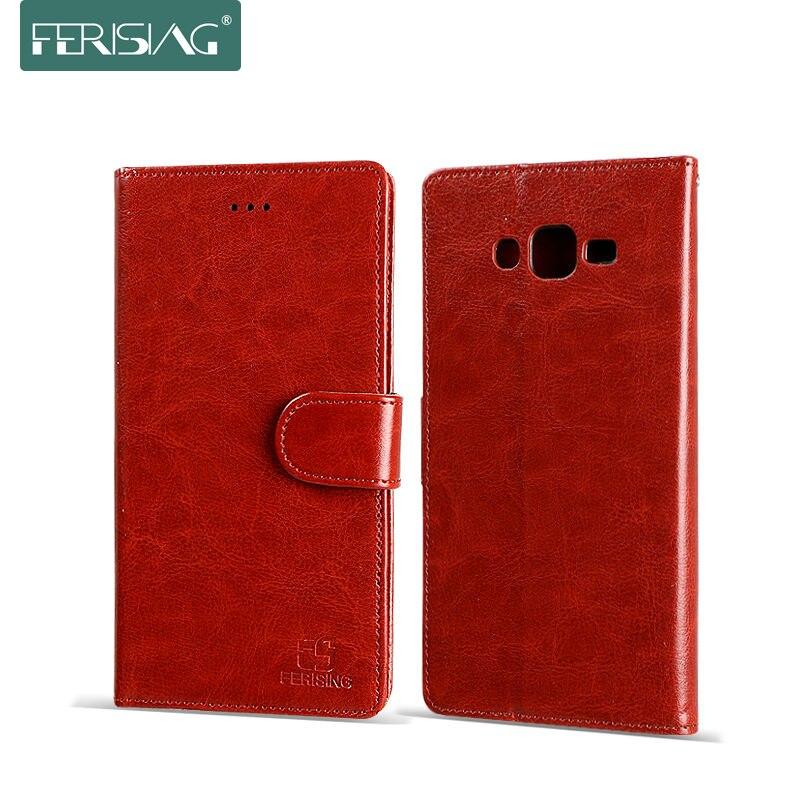 Для Samsang J7 (2015) чехол Флип кожаный чехол для Samsang Galaxy J7 J700 J700F телефон случаях кожаный бумажник карты слот Ferising P003 ...