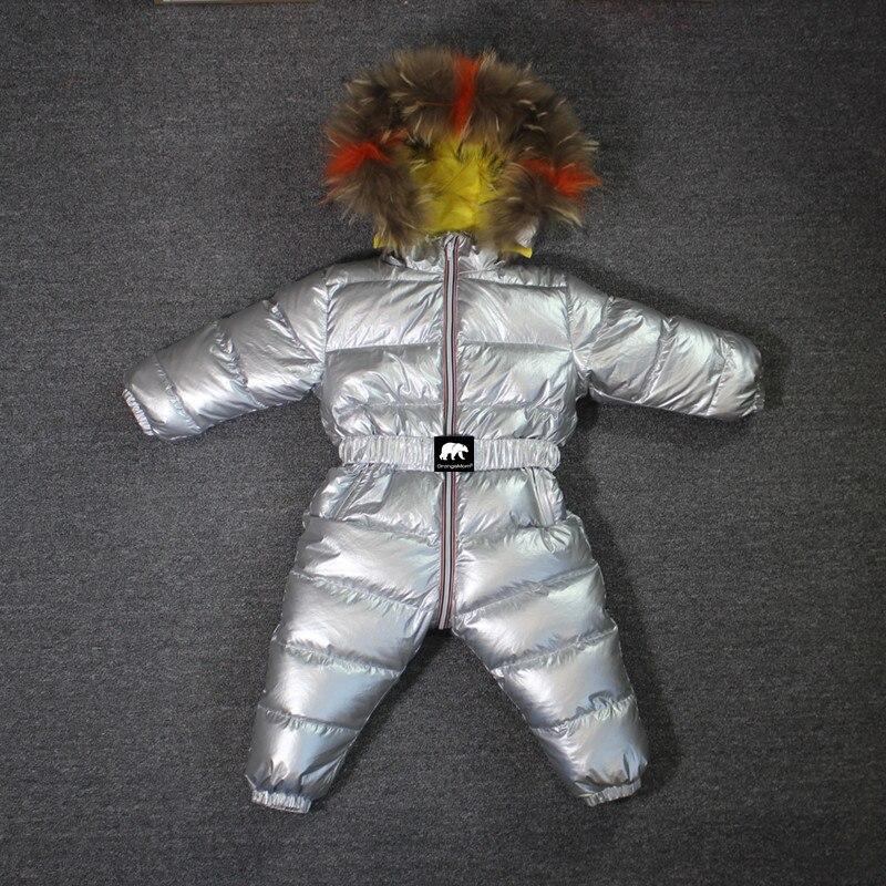 -35 gradi Russo inverno Progettato Orangemom bambini tuta sportiva & cappotti, 90% anatra giù inverno tuta vera pelliccia tuta tuta