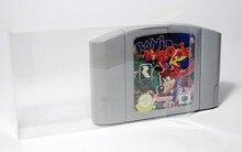 Protector de cartucho transparente para tarjetas de juego N64, 10 uds. Por lote, cajas de plástico PET
