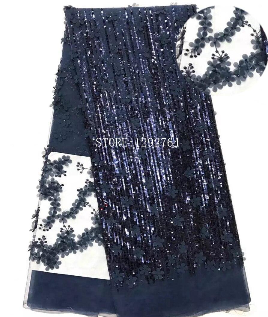 Новое поступление красивые в нигерийском стиле французский Блёстки кружевной ткани модные яркий Африканский Tull кружевной ткани для нигери...
