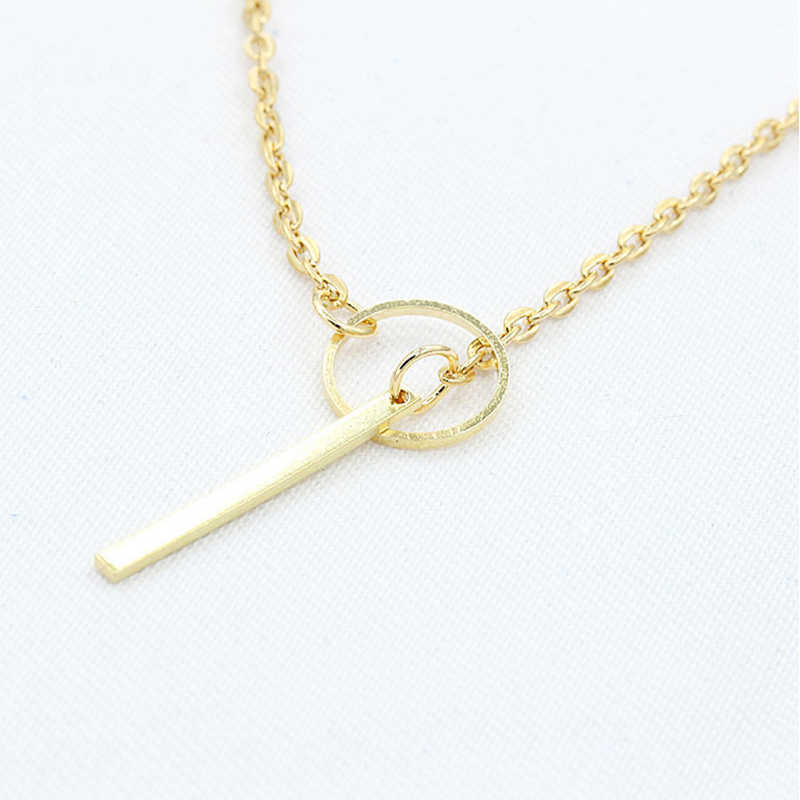 Minimalist Gold Color Silver Circle Choker Necklace Simple Infinity Cross Pendant Necklace Women Jewelry Collier Femme 2019 WD38