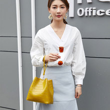 Tonny Kizz bucket handbag women shoulder bags composite crossbody with handle lady messenger tote crocodile pattern