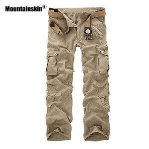 Image 2 - Mountainskin 男性の軍事マルチポケットパンツ屋外戦術的な緩いズボンハイキングキャンプ釣りクライミングブランド VA271