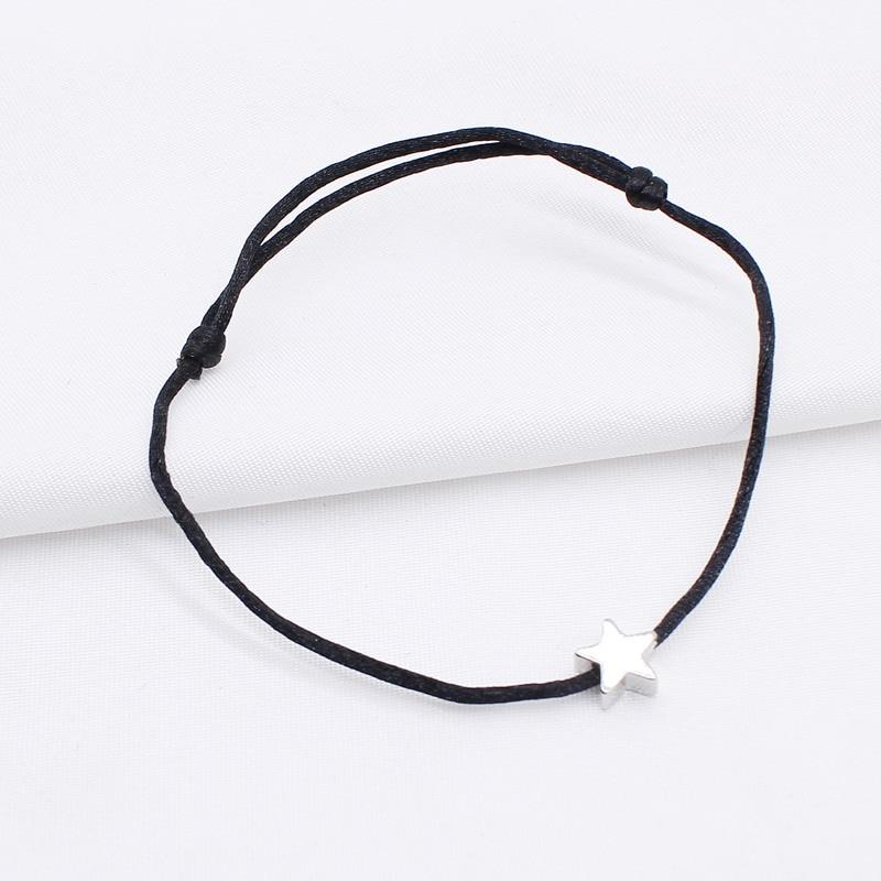 2019 new Lucky Heart star Bracelet For Women Children Red color Rope String Adjustable Handmade Bracelet Jewelry simple Bracelet 4