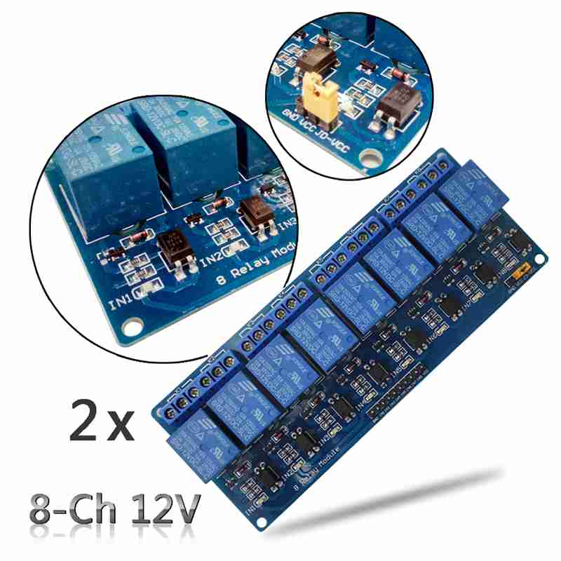2PCS 8-Channel 12V Relay Shield Module Board for 8051 AVR PIC DSP ARM ARM MSP430 TTL logic 8 Channel Relay Module 8 channel 12v relay module board
