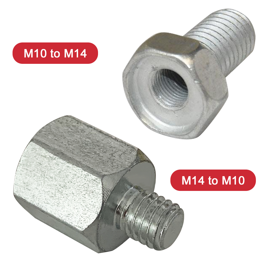 M10 M14 Angle Grinder Polisher Interface Connector Converter Adapter Screw Connecting Rod Power Tool Accessories Thread Adapters