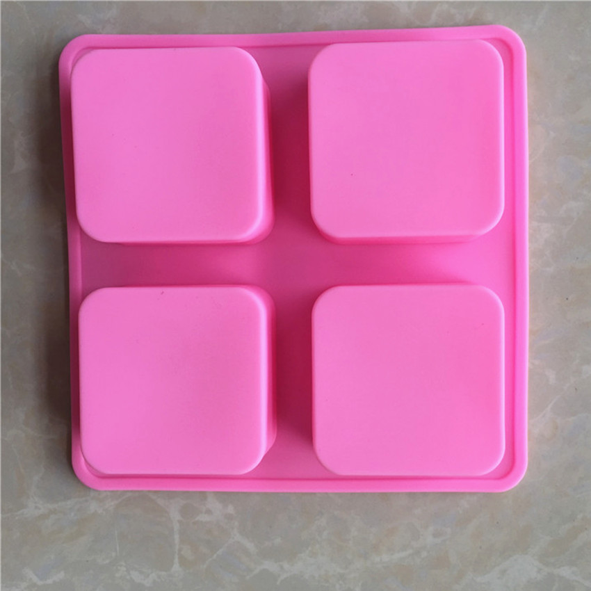 1 Piece 4 Square Cube Shapes Silicone Cake Mold Baking Tools Candy Soap Making Tools Pastry Pudding Cookie Fondant Mould GJD123