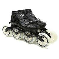 JEERKOOL Speed Inline Roller Skates Carbon Fiber Professional 4 Wheels Racing Skating ZICO Skates for Kids Adult Men Patins SH48
