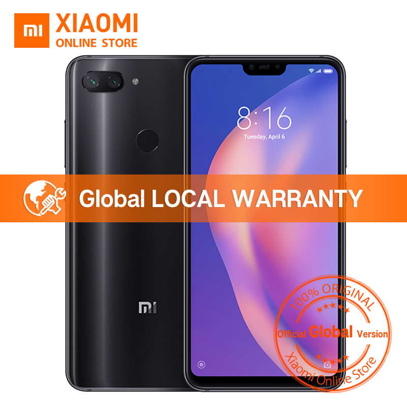 Global Version Xiaomi Mi 8 Lite 4GB 64GB 6.26″ 19:9 Notch Full Screen Snapdragon 660 Octa Core 24MP Front Camera Mi8 Smartphone