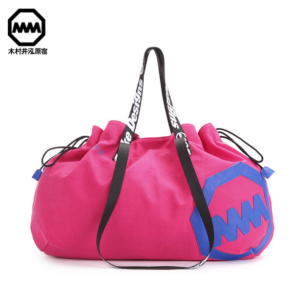 Free shipping 2017 brand desinger canvas women dual function bag shopping bag, gym bags  ...