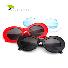 NIRVANA Kurt Cobain Classic Retro Mens Sunglasses Brand Designer Plastic Frame Oval Sun Glasses for Men Vintage Eyewear