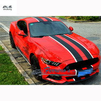 Free shipping The carbon fiber car stickers track Parallel lines of Pattern Car accessories for 2015 2016 new ford mustang