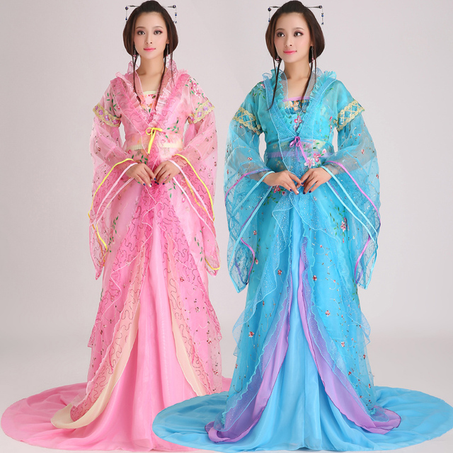 01c0e99c74225 US $109.6 |New design Chinese ancient style hanfu tang suit women's fairy  princess stage clothes fancy dress folk dance costume-in Chinese Folk Dance  ...