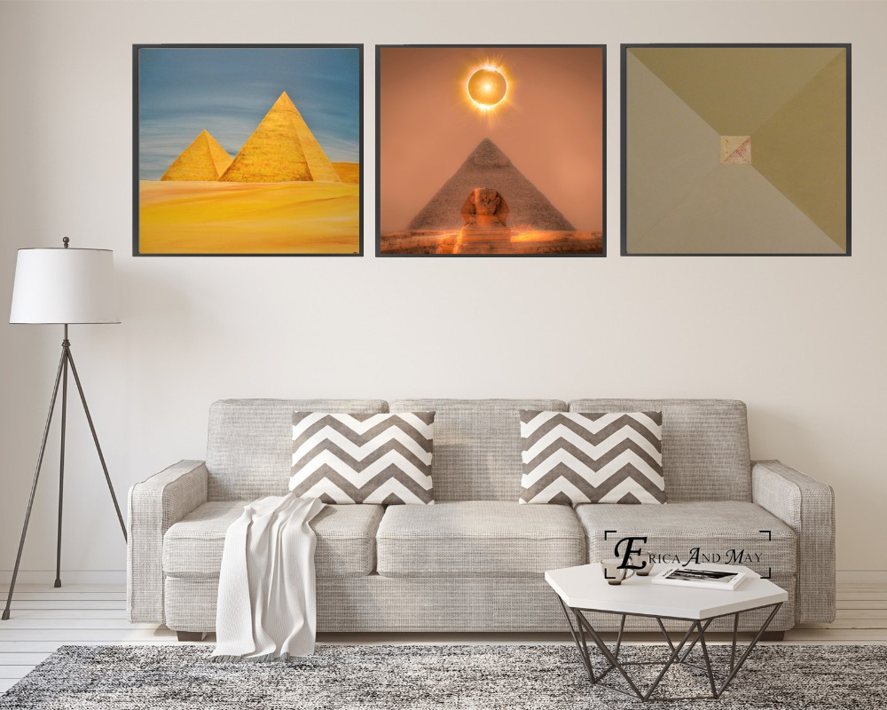 Egypt Pyramid Artwork Canvas Painting Posters And Prints For Living Room No Framed Wall Art Picture Home Decor On Sale