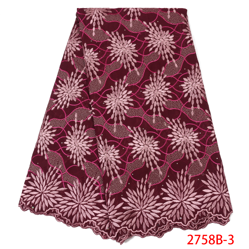 Best Selling Swiss Voile Lace Fabric,2018 High Quality African Lace Fabric, Nigerian Cotton Lace Dresses For Women KS2758B-3