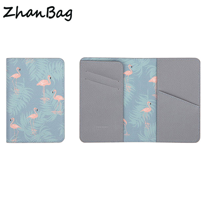 ZhanBag New Brand Travel Passport Cover For Men Women Credit Id Card Holder Floral Business Card Bag Passport Bag z49 travel passport cover wallet travel multi function credit card package trip id holder storage organize clutch money bag h 125