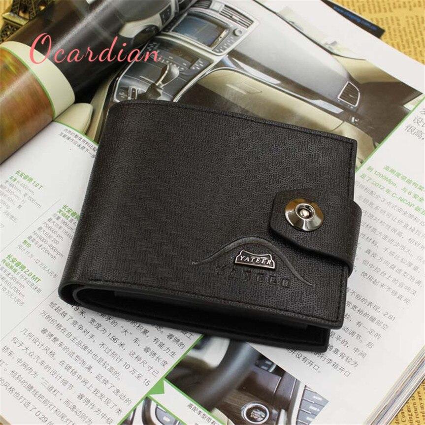 OCARDIAN monedero mujer Men Imitation leather Card Cash Receipt Holder Bifold Wallet Purse Casual #30 2017 Gift