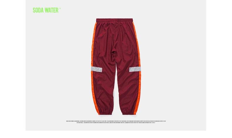 4f48acad55 WODY SODOWO Odbijają światło taśmy jogger spodnie Highstreet ...