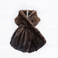 Lady Autumn Winter Genuine Knitted Mink Fur Neck Rings Scarves Real Women Fur Pashmina Wraps LF4309