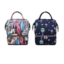 Mummy Bag Waterproof Mummy Maternity Printed Diaper Bag Large Nursing Travel Backpack Nursing Bag Baby Care For Dad and Mom mummy and me