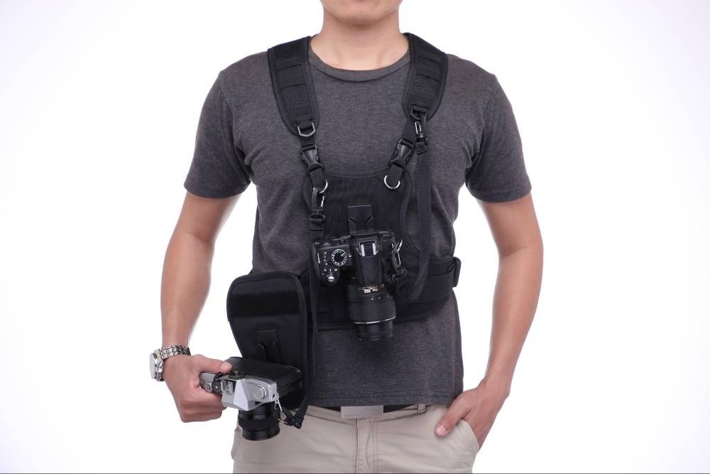 Porteador II Multi Dual 2 Cámara llevar el sistema de arnés chaleco rápido Correa con funda para Canon Nikon Sony pentax DSLR