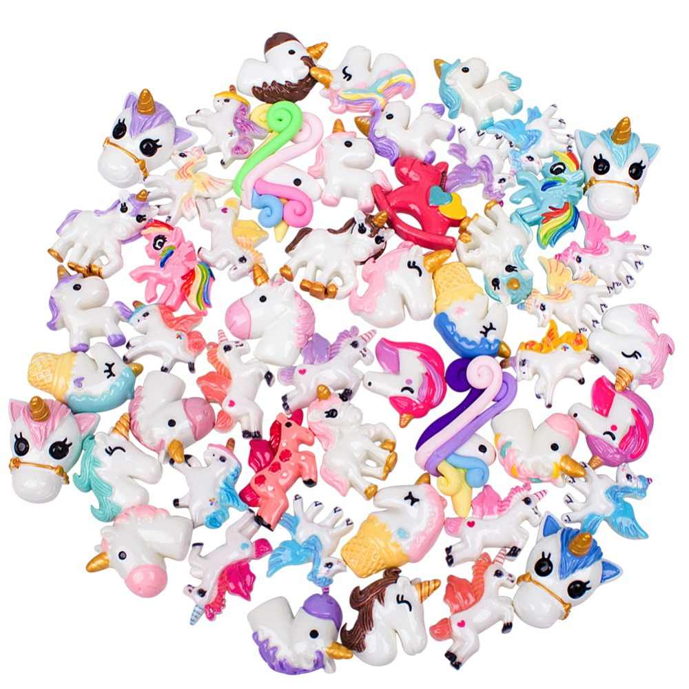 30/50/100 pcs for Unicorn Blessing Bag Set DIY Resin Accessories Slime Filler for Phone Cover Making Art DIY Craft New