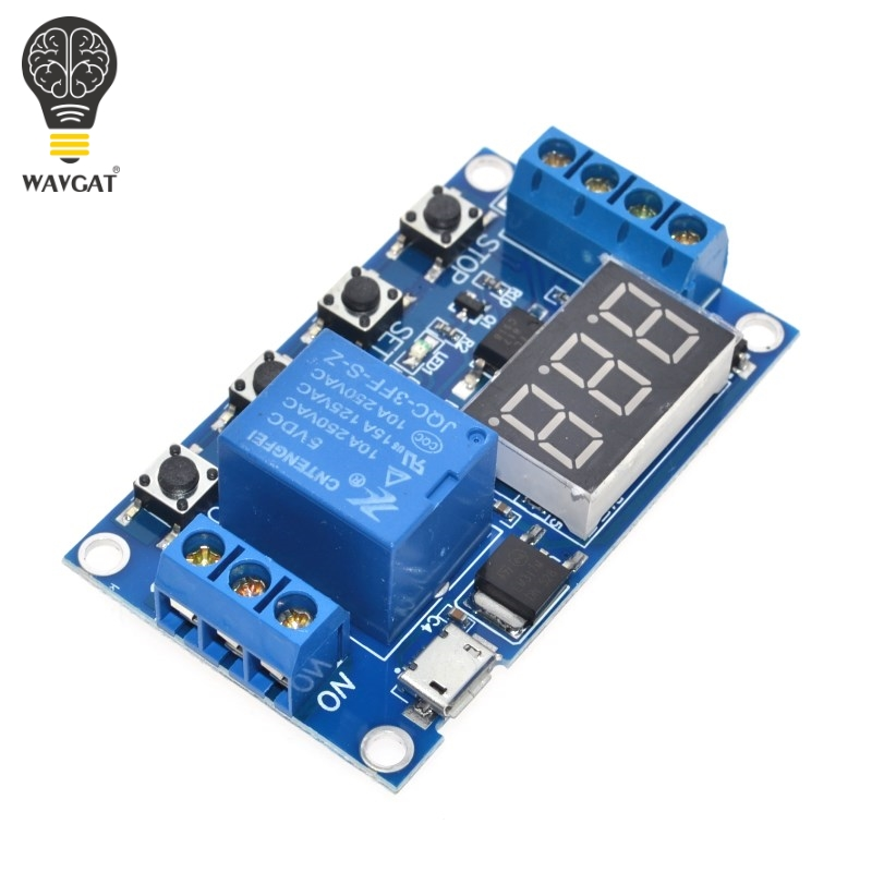 US $3 48 |1 Channel 5V Relay Module Time Delay Relay Module Trigger OFF /  ON Switch Timing Cycle 999 minutes for Arduino Relay Board Rele-in