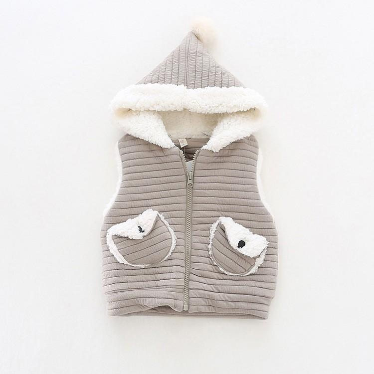 baby girl winter warm fleece vest jacket waistcoat hooded (11)
