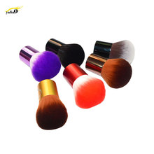 Get more info on the YALIAO Foundation Brush Powder Makeup Brushes Soft Portable Synthetic Hair Face Cheeks Make Up Tools High Quality Random Color