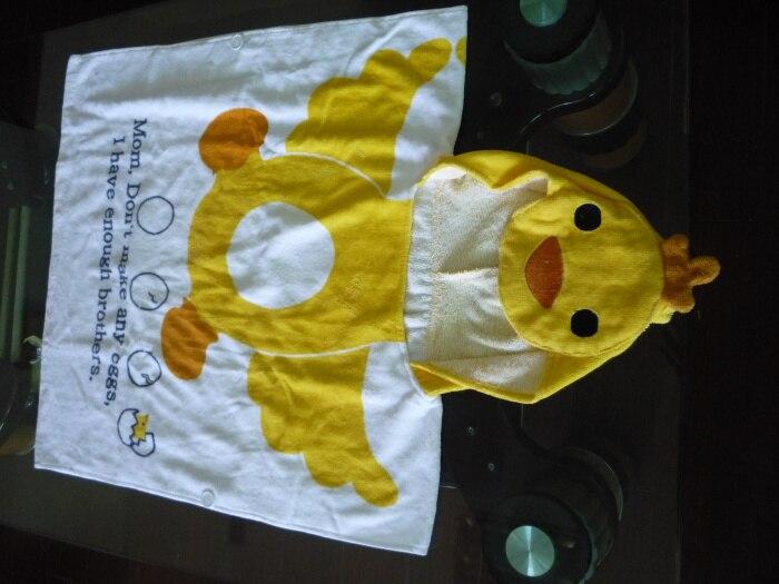 Розничная ; детское банное полотенце с капюшоном с принтом животных; купальный халат для младенцев; модельный детский банный Халат - Цвет: yellow duck